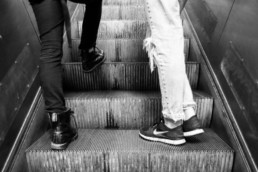 Ludovica - Berlijne - schoenen op roltrap