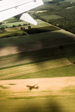 Ludovica Berlijn schaduw vliegtuig